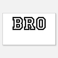 Bro College Letters Decal