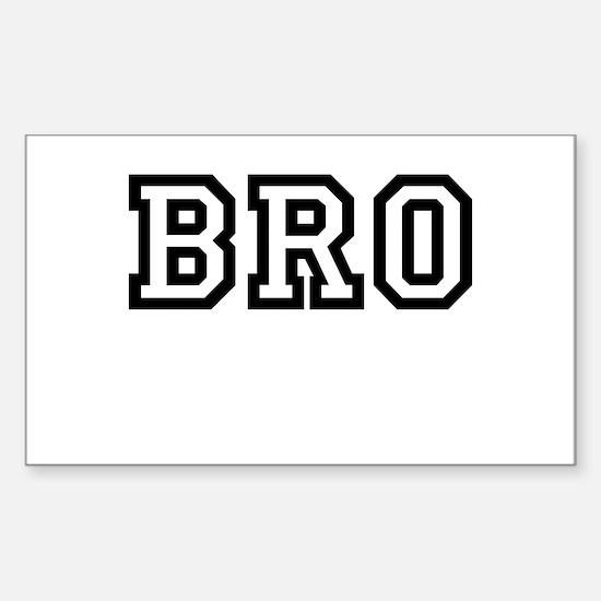 Bro College Letters Sticker (Rectangle)