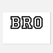 Bro College Letters Postcards (Package of 8)