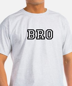 Bro College Letters T-Shirt