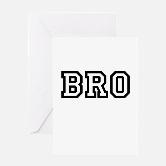 Bro College Letters Greeting Card