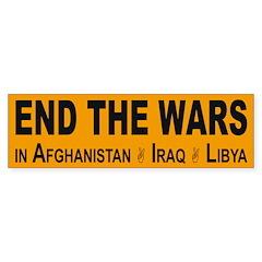 End the Wars in Afghanistan, Iraq, Libya sticker