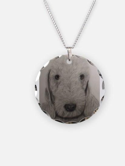 Unique Bedlington terrier Necklace