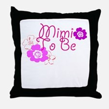 Mimi To Be Flowers Throw Pillow