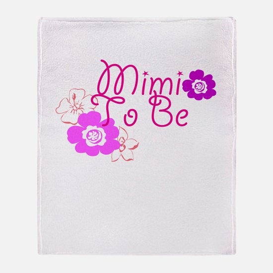 Mimi To Be Flowers Throw Blanket