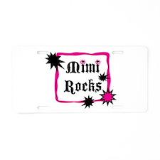 Mimi Rocks Aluminum License Plate