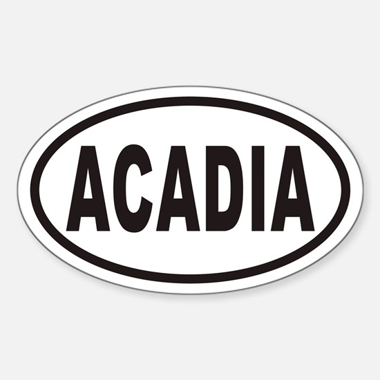 ACADIA National Park Euro Oval Bumper Stickers