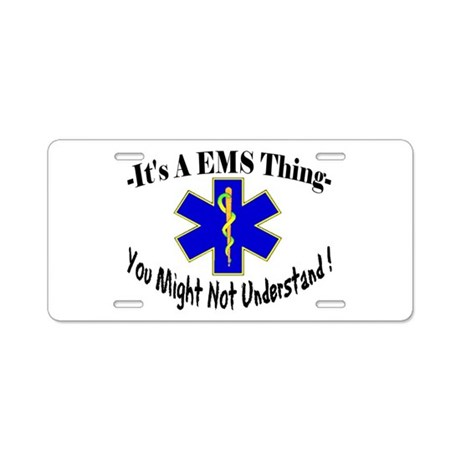 EMS Aluminum License Plate
