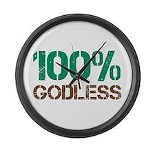 100% Godless Large Wall Clock