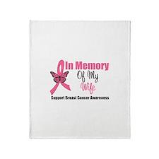 In Memory of My Wife Throw Blanket