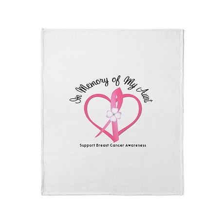 BreastCancerInMemoryAunt Throw Blanket
