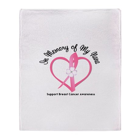 BreastCancerMemoryNana Throw Blanket