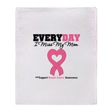 Breast Cancer Miss Mom Throw Blanket
