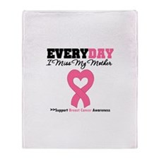 Breast Cancer Miss Mother Throw Blanket