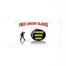 SET THEM FREE Aluminum License Plate