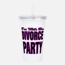 friends support divorc Acrylic Double-wall Tumbler