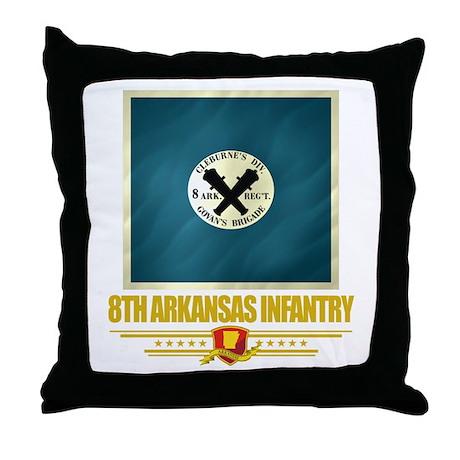 8th Arkansas Infantry Throw Pillow