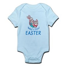 Baby Boy Bunny First Easter Infant Bodysuit