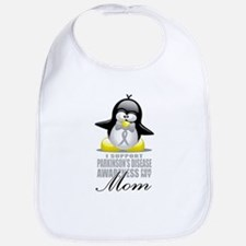 Parkinson's Penguin for Mom Bib