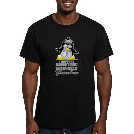 Parkinson's Penguin for Grand Men's Fitted T-Shirt