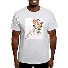 Butterfly Girl Ash Grey T-Shirt