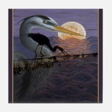 Blue Heron Tile Coaster