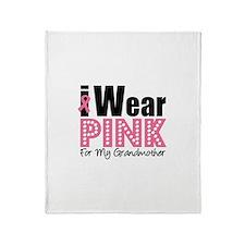 I Wear Pink Grandmother Throw Blanket