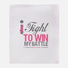 I Fight To Win Battle Throw Blanket