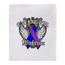 Bladder Cancer Warrior Throw Blanket