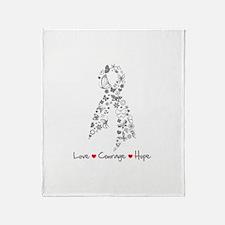 Brain Cancer Love Hope Throw Blanket