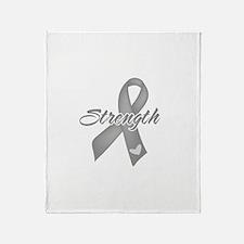 Strength - Brain Cancer Throw Blanket