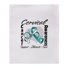 Cervical Cancer Awareness Throw Blanket
