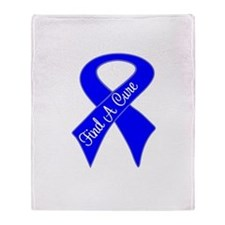 Find a Cure Colon Cancer Throw Blanket
