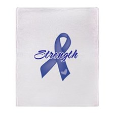 Strength - Colon Cancer Throw Blanket