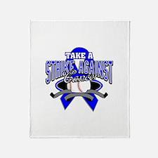 Take a Strike Colon Cancer Throw Blanket