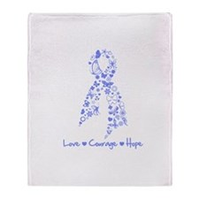 Love Hope Esophageal Cancer Throw Blanket
