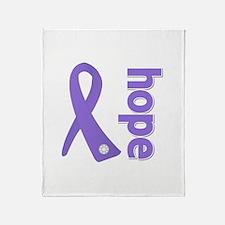 Hope Ribbon Hodgkin's Throw Blanket