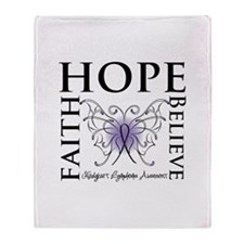 Faith Hope Butterfly Hodgkins Throw Blanket