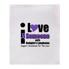 I Love Someone w/Lymphoma Throw Blanket
