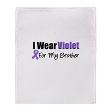Violet Ribbon Brother Throw Blanket