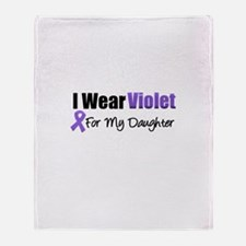 Violet Ribbon Daughter Throw Blanket