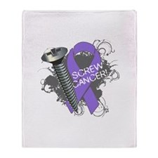 Screw Hodgkins Lymphoma Throw Blanket