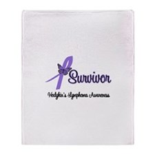 Hodgkin's Disease Survivor Throw Blanket