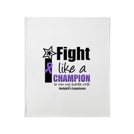 Hodgkin's Champion Throw Blanket