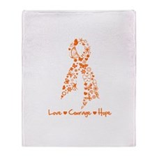 Leukemia Love Hope Throw Blanket