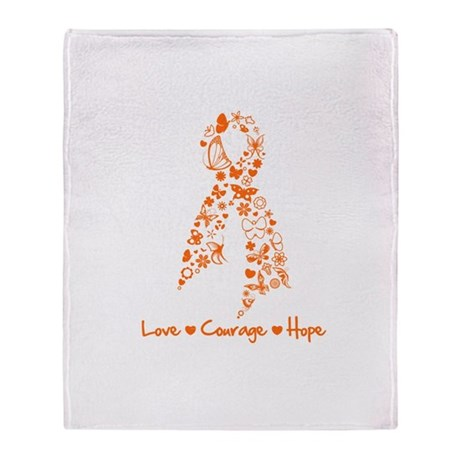 Leukemia Love Hope Throw Blanket