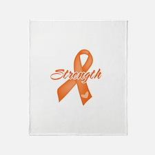 Stength Ribbon Leukemia Throw Blanket