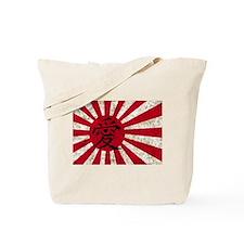 Japanese Love Flag Tote Bag