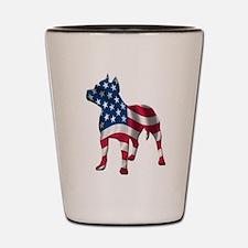 Patriotic Pit bull design Shot Glass