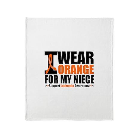 I Wear Orange For My Niece Throw Blanket